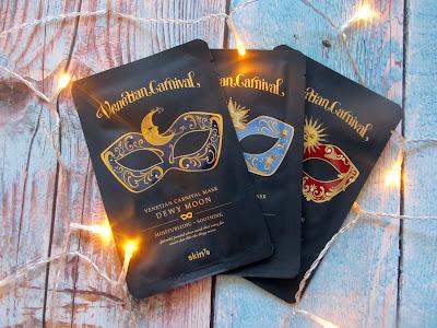 Venetian Carnival Mask, Shiny Star, maski w płacie,