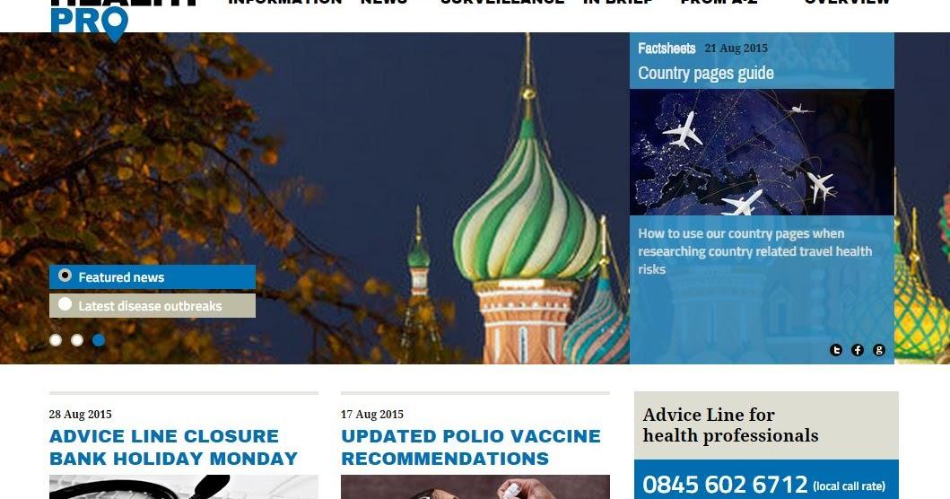 National Travel Health Network And Centre S Travelhealthpro Website
