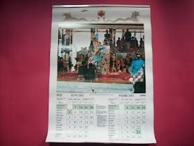 Kalender kuno 1990 tema Kraton Yogyakarta Sri Dultan HB X.minat hub 085866230123