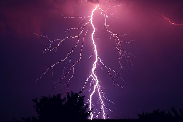 Night, thunderbolt, weather, lightning, power, electric, charge, energy, lightning, thunderbolt, electricity, forecast, danger