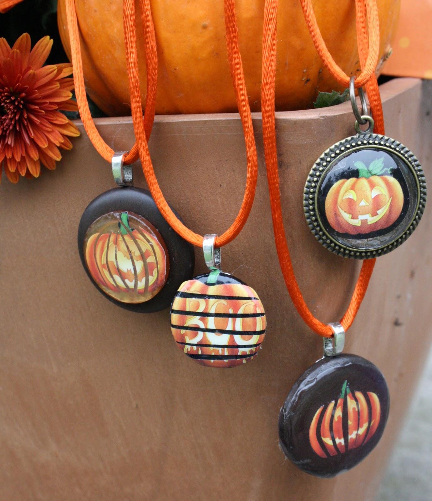 Scary Pumpkin Pendants