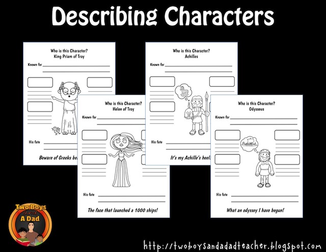 character traits of Greek myths characters