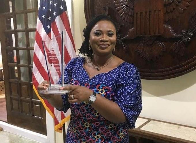 Charlotte Osei wins US Woman of Courage 2017 award