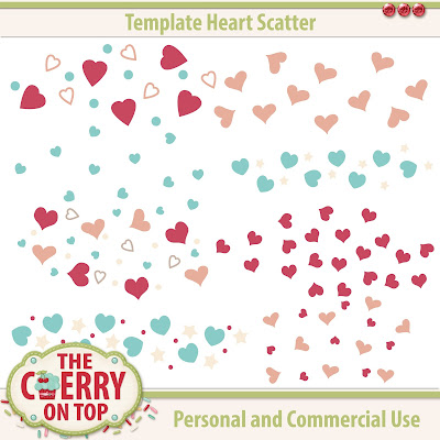 heart scatter templates