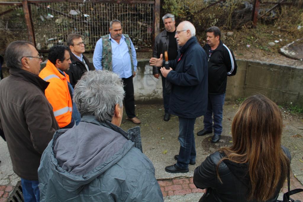 Αυτοψία στα «Νταμάρια» ξανά για τον Δήμαρχο Λαρισαίων με στελέχη του ΟΣΕ (ΦΩΤΟ)