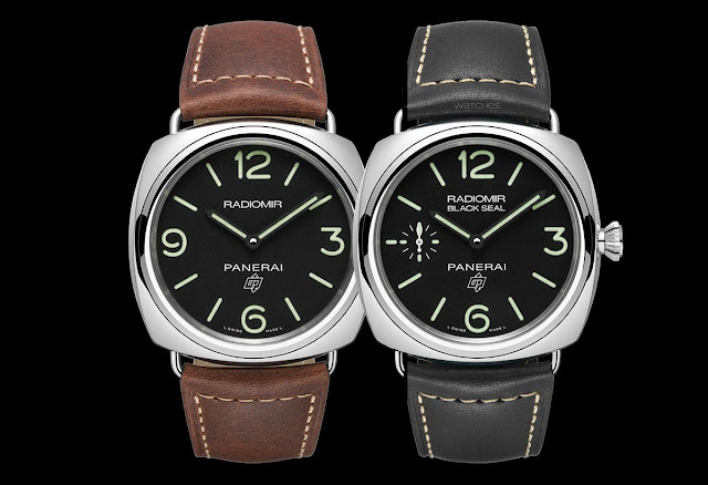 Officine Panerai Radiomir PAM753 and PAM754, entry levels with in-house movement