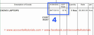 Mention GST Rate, HSN Codes in GST Invoice