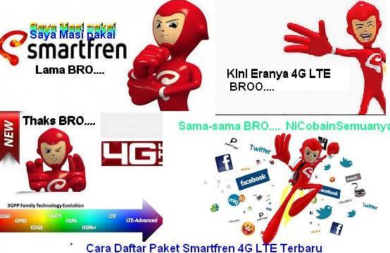 Cara Daftar Paket Internet Smartfren 4G LTE Terbaru
