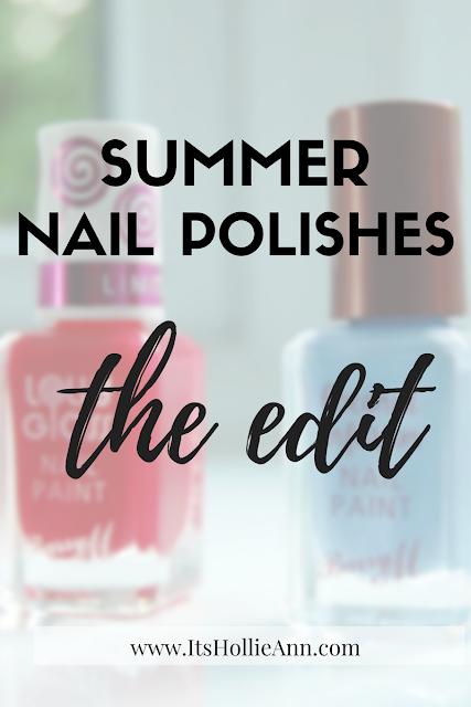 summer nail polish edit