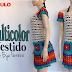 Videoaula | Vestido Multicolor