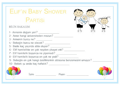 Baby Shower Parti Konsepti