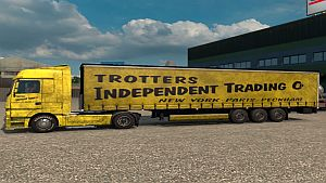 Mercedes MP4 Trotters Independant Traders skin + trailer