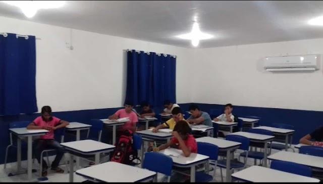 IMAGEM DO DIA: Hoje o município de Japi tem salas de aulas dignas para oferecer aos alunos