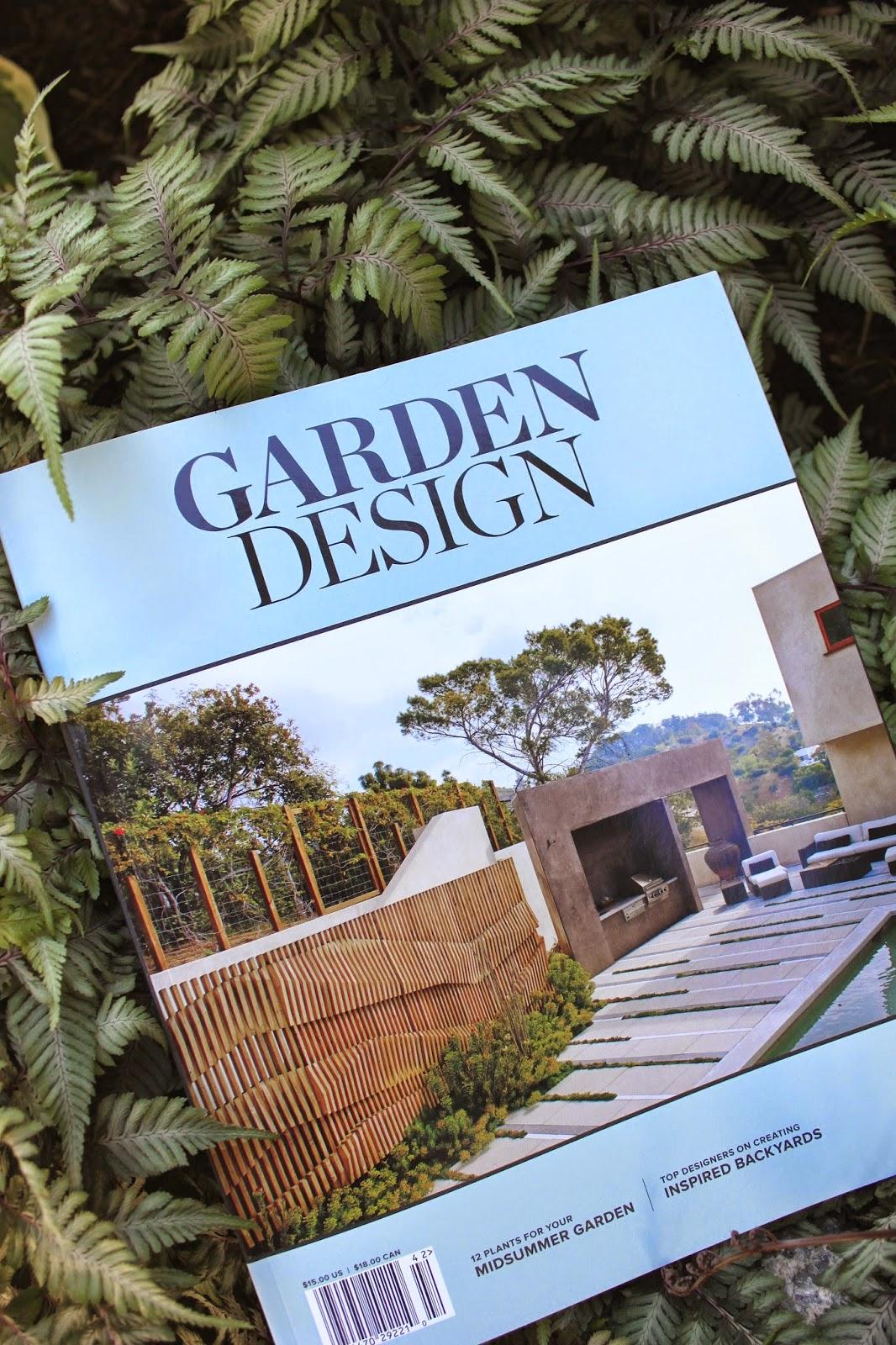 the new garden design magazine its great