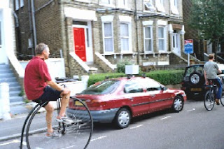 Lambeth Cyclists and penny farthing