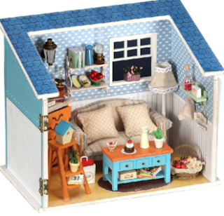 Diy Model Warm Whisper Dollhouse and Furniture Set Birthday Gift for Girl Friend