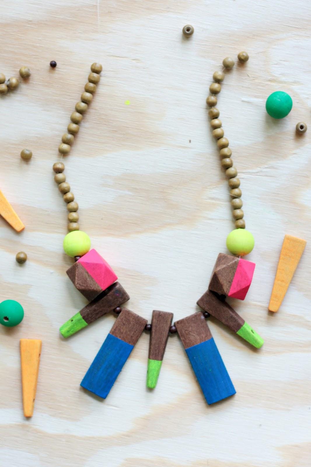 diy neon statement necklace - photo #26