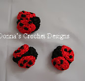 http://www.freepatternsdonnascrochetdesigns.com/lady-bug-applique-free-crochet-pattern.html
