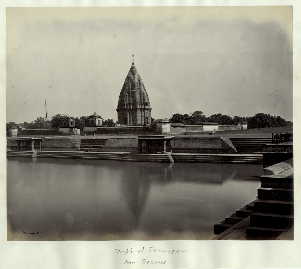 Temple of Ramnagar near Varanasi (Benares) - 1860's