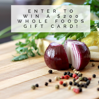 Enter teh Whole Foods Gift Card Giveaway. Ends 5/6