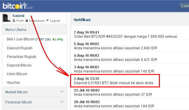 Bukti Pembayaran dari Ethtrade