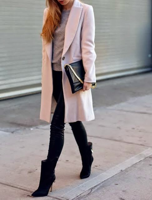 Fall/Winter 2014 Outfit with Pastel Pink Coat