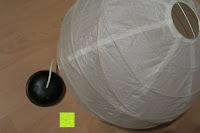 Lampenschirm: Lumen Basic schwarz ? Rauchmelder, ersetzt Ihr Sockel/Pavillon Luminaire (Noxe)