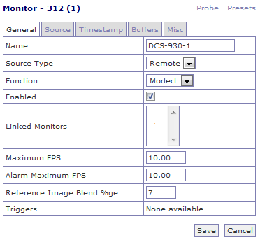 linux notes: Система видеонаблюдения (ZoneMinder 1 24 2)