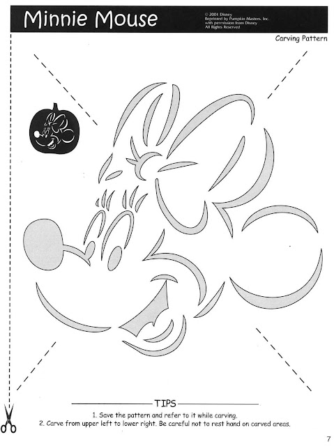 Free Printable Mickey Minnie Mouse Pumpkin carving stencils patterns