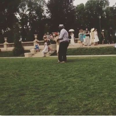 People swing dancing to live music at the Crane Estate Roaring Twenties Lawn Party