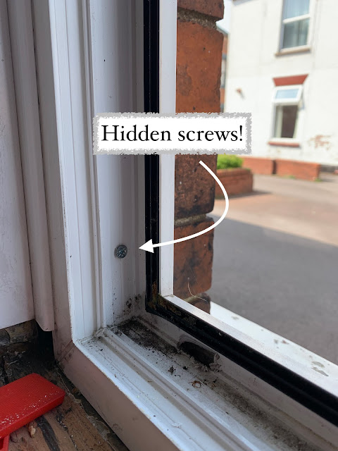 hidden screws in window frame