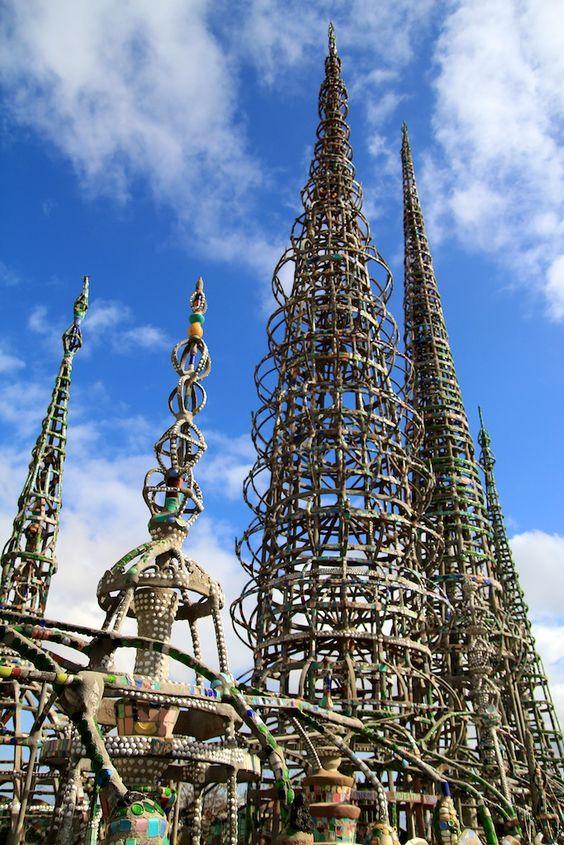 HISTORIC LANDMARK: Watts Towers (near Los Angeles) 1921-1954
