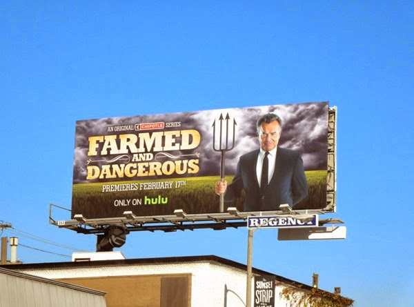 Farmed and Dangerous series launch billboard