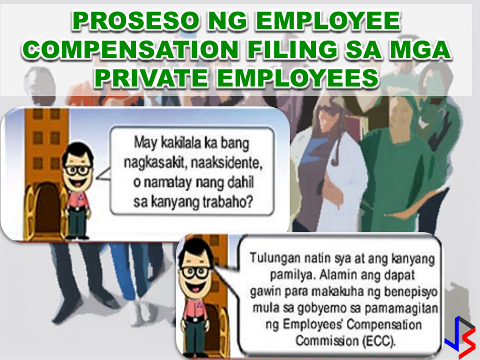 "If you know someone who is sick, had an accident  or relatives of an employee who died while on duty, you can help them and their families  by sharing them how to claim their benefits from the government through Employment Compensation Commission.  Here are the steps on claiming the Employee Compensation for private employees.        Step 1. Prepare the following documents:  Certificate of Employment- stating  the actual duties and responsibilities of the employee at the time of his sickness or accident.  EC Log Book- certified true copy of the page containing the particular sickness or accident that happened to the employee.  Medical Findings- should come from  the attending doctor the hospital where the employee was admitted.     Step 2. Gather the additional documents if the employee is;  1. Got sick: Request your company to provide  pre-employment medical check -up or  Fit-To-Work certification at the time that you first got hired . Also attach Medical Records from your company.  2. In case of accident: Provide an Accident report if the accident happened within the company or work premises. Police report if it happened outside the company premises (i.e. employee's residence etc.)  3 In case of Death:  Bring the Death Certificate, Medical Records and accident report of the employee. If married, bring the Marriage Certificate and the Birth Certificate of his children below 21 years of age.      FINAL ENTRY HERE, LINKS OTHERS   Step 3.  Gather all the requirements together and submit it to the nearest SSS office. Wait for the SSS decision,if approved, you will receive a notice and a cheque from the SSS. If denied, ask for a written denial letter from SSS and file a motion for reconsideration and submit it to the SSS Main office. In case that the motion is  not approved, write a letter of appeal and send it to ECC and wait for their decision.      Contact ECC Office at ECC Building, 355 Sen. Gil J. Puyat Ave, Makati, 1209 Metro ManilaPhone:(02) 899 4251 Recommended: NATIONAL PORTAL AND NATIONAL BROADBAND PLAN TO  SPEED UP INTERNET SERVICES IN THE PHILIPPINES In a Facebook post of Agriculture Secretary Manny Piñol, he said that after a presentation made by Dept. of Information and Communications Technology (DICT) Secretary Rodolfo Salalima, Pres. Duterte emphasized the need for faster communications in the country.Pres. Duterte earlier said he would like the Department of Information and Communications Technology (DICT) ""to develop a national broadband plan to accelerate the deployment of fiber optics cables and wireless technologies to improve internet speed."" As a response to the President's SONA statement, Salalima presented the  DICT's national broadband plan that aims to push for free WiFi access to more areas in the countryside.   Read more: https://www.jbsolis.com/2017/03/president-rodrigo-duterte-approved.html#ixzz4bC6eQr5N Good news to the Filipinos whose business and livelihood rely on good and fast internet connection such as stocks trading and online marketing. President Rodrigo Duterte  has already approved the establishment of  the National Government Portal and a National Broadband Plan during the 13th Cabinet Meeting in Malacañang today. In a facebook post of Agriculture Secretary Manny Piñol, he said that after a presentation made by Dept. of Information and Communications Technology (DICT) Secretary Rodolfo Salalima, Pres. Duterte emphasized the need for faster communications in the country. Pres. Duterte earlier said he would like the Department of Information and Communications Technology (DICT) ""to develop a national broadband plan to accelerate the deployment of fiber optics cables and wireless technologies to improve internet speed."" As a response to the President's SONA statement, Salalima presented the  DICT's national broadband plan that aims to push for free WiFi access to more areas in the countryside.  The broadband program has been in the work since former President Gloria Arroyo but due to allegations of corruption and illegality, Mrs. Arroyo cancelled the US$329 million National Broadband Network (NBN) deal with China's ZTE Corp.just 6 months after she signed it in April 2007.  Fast internet connection benefits not only those who are on internet business and online business but even our over 10 million OFWs around the world and their families in the Philippines. When the era of snail mails, voice tapes and telegram  and the internet age started, communications with their loved one back home can be much easier. But with the Philippines being at #43 on the latest internet speed ranks, something is telling us that improvement has to made.                RECOMMENDED  BEWARE OF SCAMMERS!  RELOCATING NAIA  THE HORROR AND TERROR OF BEING A HOUSEMAID IN SAUDI ARABIA  DUTERTE WARNING  NEW BAGGAGE RULES FOR DUBAI AIRPORT    HUGE FISH SIGHTINGS    NATIONWIDE SMOKING BAN SIGNED BY PRESIDENT DUTERTE In January, Health Secretary Paulyn Ubial said that President Duterte had asked her to draft the executive order similar to what had been implemented in Davao City when he was a mayor, it is the ""100% smoke-free environment in public places.""Today, a text message from Sec. Manny Piñol to ABS-CBN News confirmed that President Duterte will sign an Executive Order to ban smoking in public places as drafted by the Department of Health (DOH).  Read more: https://www.jbsolis.com/2017/03/executive-order-for-nationwide-smoking.html#ixzz4bC77ijSR   EMIRATES ID CAN NOW BE USED AS HEALTH INSURANCE CARD  TODAY'S NEWS THAT WILL REVIVE YOUR TRUST TO THE PHIL GOVERNMENT  BEWARE OF SCAMMERS!  RELOCATING NAIA  THE HORROR AND TERROR OF BEING A HOUSEMAID IN SAUDI ARABIA  DUTERTE WARNING  NEW BAGGAGE RULES FOR DUBAI AIRPORT    HUGE FISH SIGHTINGS"