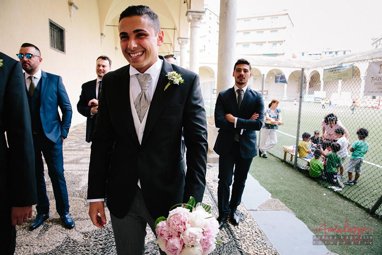 sposo attende sposa Certosa Genova