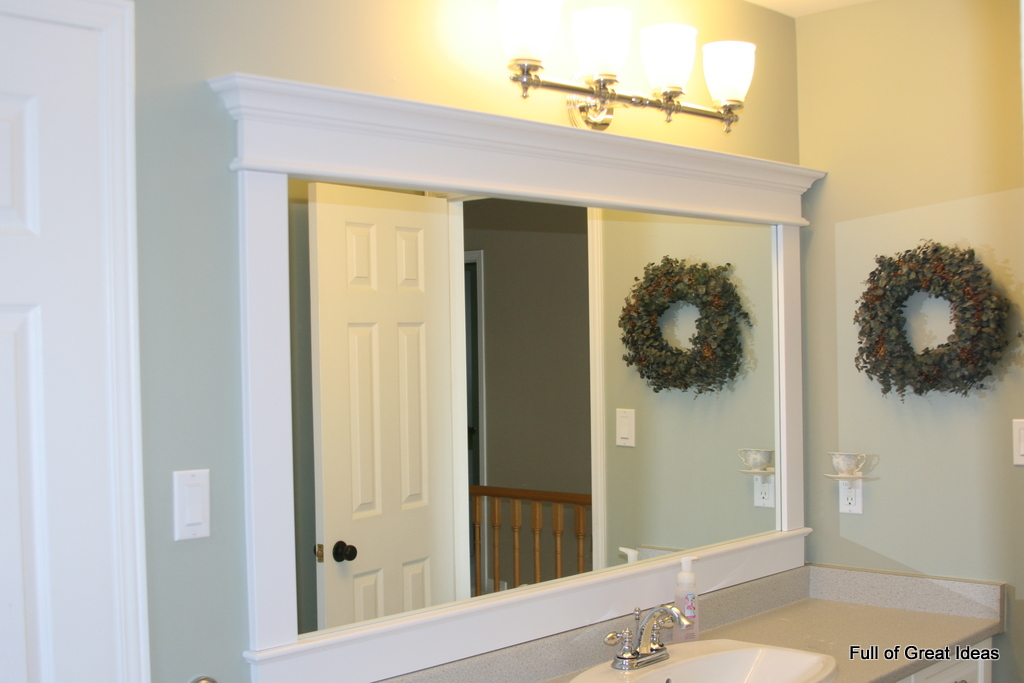 Full of Great Ideas: Framing a builder grade mirror that