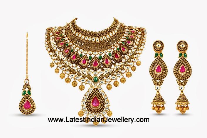 Heavy Bridal Kundan Jewellery Set