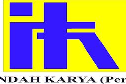 PT Indah Karya (Persero) Membuka Lowongan Terbaru Oktober 2017, Posisi: SAFP & JSAFI