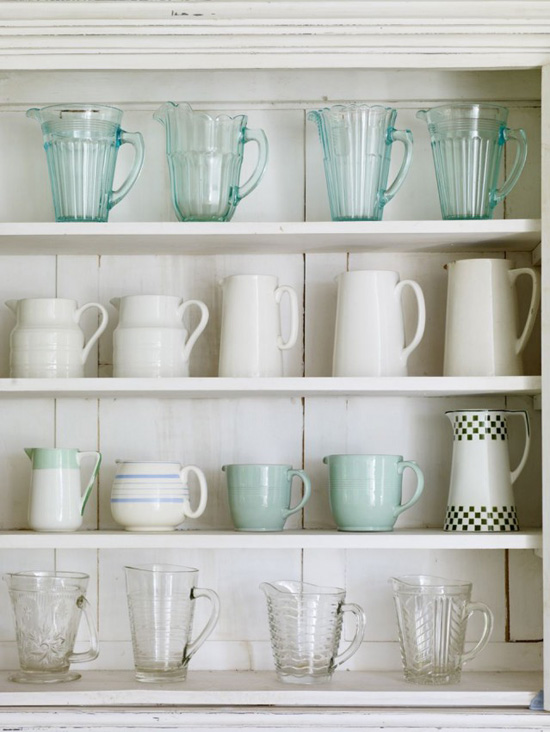 Open shelving kitchen storage inspiration #kitchen #storage