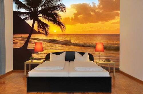 romantisk tapet tropisk fototapet sovrumstapet