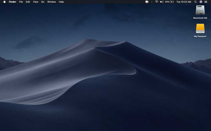 macOS Mojave 10.14.4 dengan Safari Automatic Dark Mode
