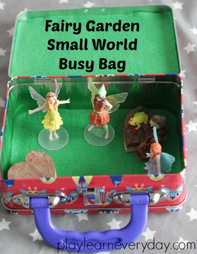 Fairy Garden Small World Busy Bag Play and Learn Every Day