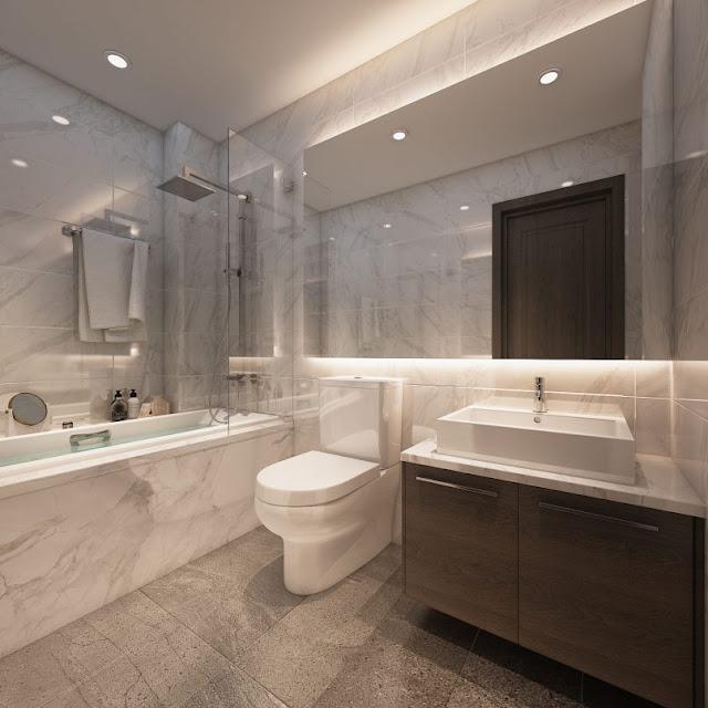 Thiết kế chung căn hộ Sơn Trà Ocean View 1 phòng ngủ - Phòng toilet