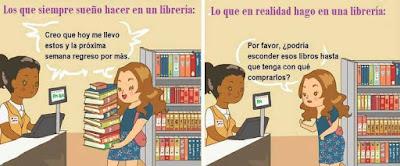Meme sobre la compra de libros