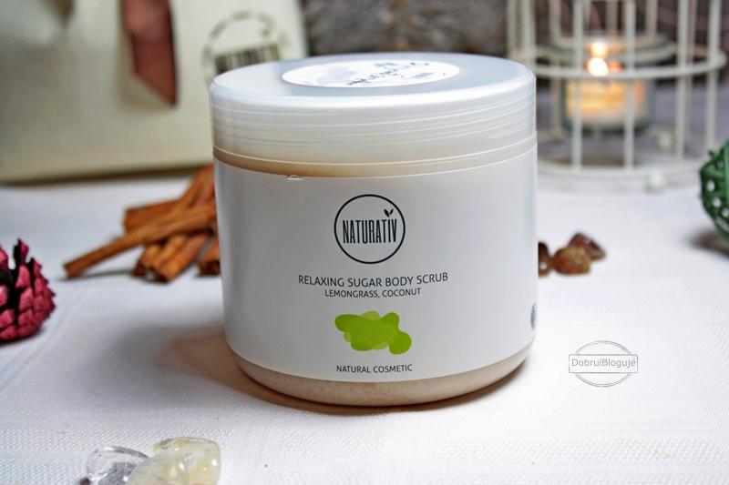 NATURATIV- Relaxing sugar body scrub- Trawa cytrynowa- kokos. Urodzinkowe wyniki.