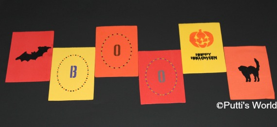 DIY Reversible Halloween Bunting