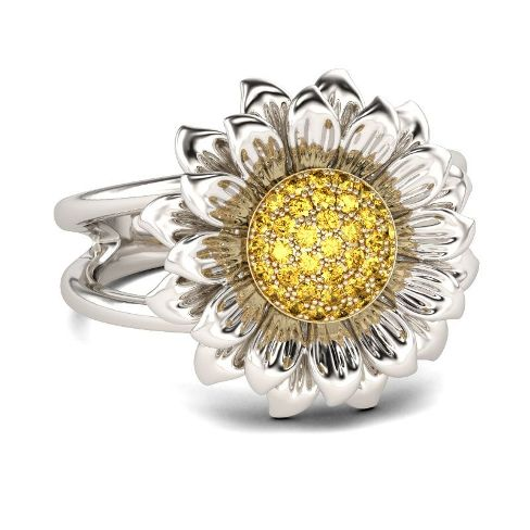 Sunflower Sterling Silver Ring – Price : $119.00
