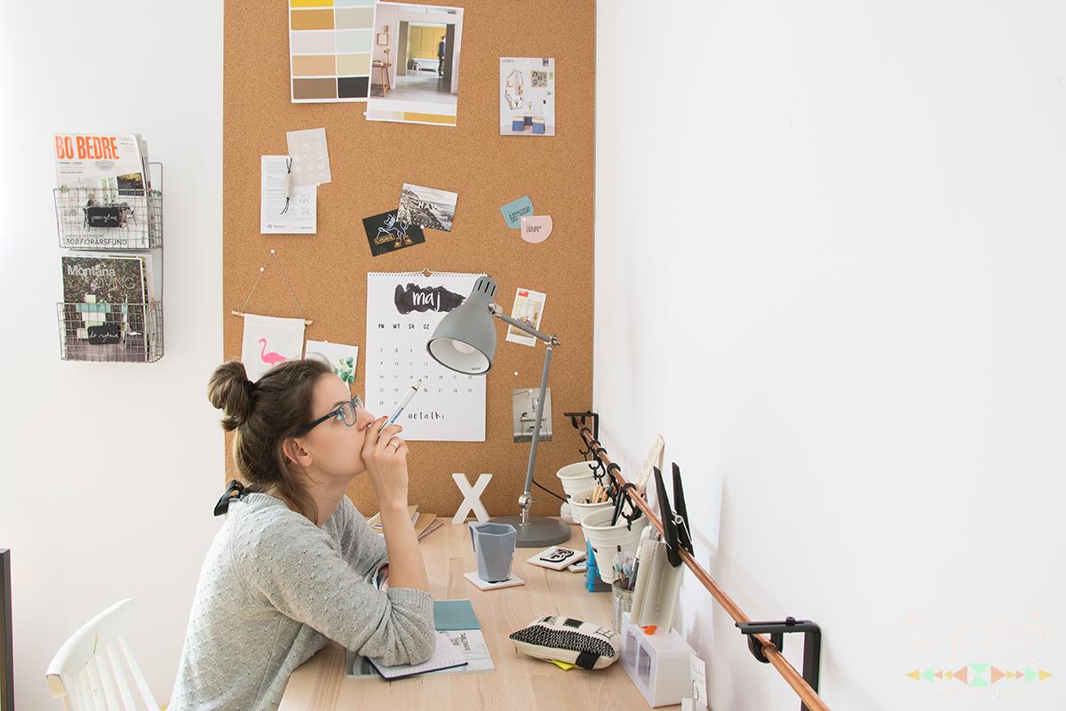 ściana z korka w biurze