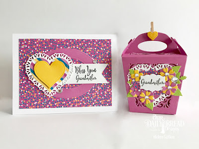 Our Daily Bread Designs Stamp Set: To My Favorite, Hugs & Kisses, Custom Dies: Glorious Gable Box, Heavenly Hearts, Tulip Heart, Layering Hearts, Mini Label, Bitty Blossoms, Leaves & Branches, Pennant Flag, Ovals, Double Stitched Rectangles