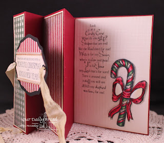 Stamps - Our Daily Bread Designs Candy Cane, Christmas Door, ODBD Elegant Oval Die, Christmas Paper Collection 2013